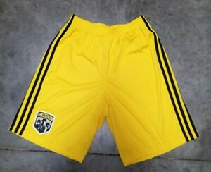 The Crew MLS Adidas Men's Yellow Shorts Size Fitted XL
