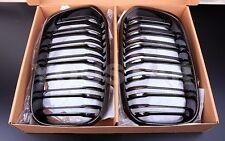 NEW CARBON LOOK TWIN SLAT FRONT KIDNEY GRILLS BMW F20 F21 LCI 1 SERIES M LOOK