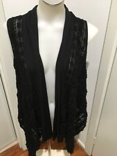 Ladies Metalicus Black Vest One Size BNWT RRP $149.95