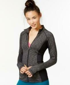 Ideology Womens Full-Zip Space-Dyed Jacket