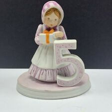 Holly Hobbie birthday collection figurine 1982 vtg bisque porcelain doll 5 years