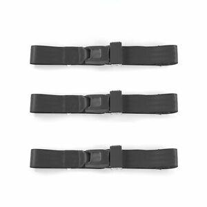 AMC Rebel 1967 - 1970 Standard 2pt Charcoal Lap Bench Seat Belt Kit - 3 Belts