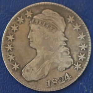 1824/1 (over date variety) FINE U.S. Bust Half Dollar