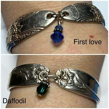 Spoon Bracelets 2 Piece Lot Daffodil 1950 & First Love 1937 Silverware Magnetic