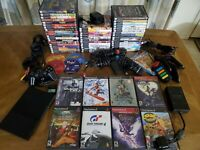 HUGE TESTED 60 Game Playstation 2 Slim Console, Game, Eye Toy, Family Game Lot