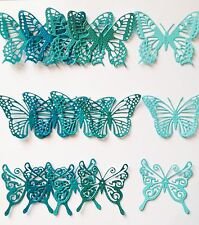 Cheery Lynn Trio Of Butterfly Die-Cuts (teal-turquoise) - 15 Pieces Included