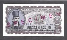 Romania p-89 , AUNC, 25 Lei, 1952, SPECIMEN !!
