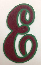 Chenille Script Letter Award Patch Emblem - varsity jacket, letterman