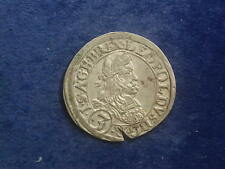 """3 Kreuzer ( Groschen ) 1666 Graz Leopold I. """" Erhaltung  """" W/18/394"""