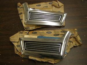 NOS OEM 1967 Ford Galaxie 500 Front Fender Mouldings Trim