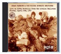 GRAM PARSONS & THE FLYING BURRITO BROS, Avalon Ballroom 1969, KPFA, on CD