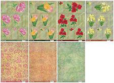 Bumper bargain floral cardmaking kit - Buzzcraft Vintage die cut toppers, card