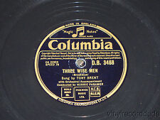 TONY BRENT Wanted / Three Wise Men 78 Columbia D.B. 3468 UK NORRIE PARAMOR