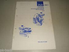 Teileliste Ersatzteilliste Spare Parts List JLO (ILO) Motor Typ L / RM 77, 1978