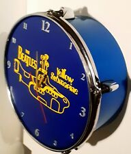 THE BEATLES - Yellow submarine upcycled Drum Clock.