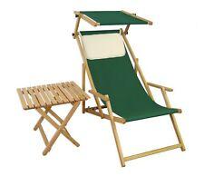 Chaise Longue Vert Transat pour Jardin Table Meubles de Bois 10-304 N S T Kh