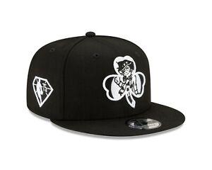 Boston Celtics New Era  NBA Draft Black & White  9FIFTY Snapback Adjustable Hat