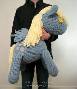 MLP Giant Derpy Hooves Stuffed Plush Pony Custom Crochet Handmade Large Plushie