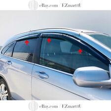 Fit 2007 2008 2009 2010 2011 Honda CR-V Window Visor Vent Rain Deflector 4PCS