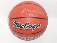 JOHN WOODEN SIGNED F/S COLLEGE BASKETBALL UCLA BRUINS JSA LOA