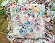 """Ralph Lauren ALLISON Ruffled Feather 16"""" Throw Pillow & Insert Floral Rose RARe"""