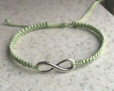 Handmade Fashion Adjustable Knitted Infinity Charm Bracelet