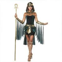Egyptian Goddess Queen Dress Halloween Woman Cleopatra Cosplay Costume Outfit