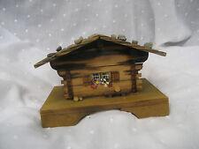 Vintage wooden cottage music box 7200 s:brienzerburli wind up