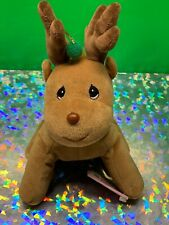 Precious Moments Plush Christmas Reindeer Mint with Tag Enesco 1998 Tender Tails