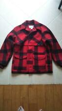 FILSON Double MACKINAW CRUISER JACKET Red Wool Size 40 Used From Japan F/S