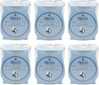 6x Price's Anti-Tobacco Candle in Jar - Eliminates Tobacco and Smoking Odour
