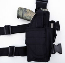 Tactical Leg Thigh Gun Pistol Holster or Open Carry Belt Duty Holster BLACK