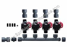 Hunter PGV101-MM 4 Zone Dura Manifold Valve Kit with Flow Control - Slip PGV101G