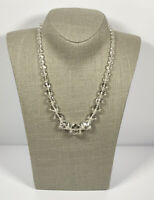 Vintage Necklace Graduated Faceted Glass Beads Collar Length Cute Kitsch Costume