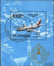 Nicaragua Bloque 168 (edición completa) usado 1986 STOCKHOLMIA `86