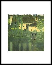 Gustav Klimt Schloss Unterach am Attersee Poster Kunstdruck und Rahmen 36x28cm