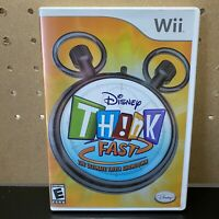 Disney Think Fast Nintendo Wii 2008 Video Game Trivia - Complete & Tested
