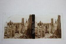 Guerre 14-18 WW1 - Superbe Photo stéréo plaque de verre 17 - Reims (Marne)