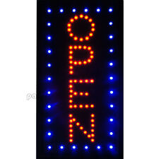 19�×10� Vertical Animated Motion Led Light Open Neon Business Sign Bar Café Shop