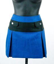 Karen Millen BLACK LABEL Womens Color Block Blue A Line Mini Sailor Skirt 8 NWT