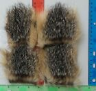 """4 pc """" GRAY FOX  Select """" =  6""""x 6""""  Hairs & Furs FLY TYING FLIES Wings & Tails"""