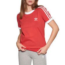 Adidas Originals 3 Stripe Womens T-shirt - Lush Red All Sizes