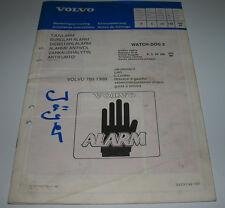 Instructions d'installation Volvo 760 à partir de 1988 vol Alarme Watch Dog 2 de 01/1988!