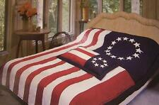 Comforter Bedspread Betsy Ross Flag 68x86 Twin New with One pillow sham