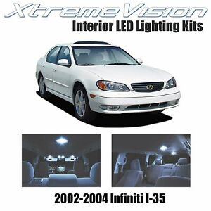 XtremeVision LED for Infiniti I-35 2002-2004 (5 Pieces) Cool White Premium Inter