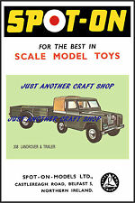 Spot On Triang 308 Land Rover & Trailer A3 Size Poster Advert Shop Sign Leaflet