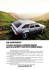 """1971 AMC Sportabout Wagon photo """"Sporty with Cargo Space"""" promo print ad"""