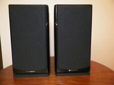 WHARFEDALE REVA-1 BOOKSHELF SPEAKERS PAIR PIANO BLACK MINT!