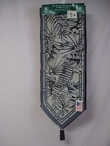 """USA Made NWT Tropical Breeze Toile 13"""" x 72"""" Tapestry Table Runner #87"""