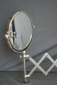 LEFROY BROOKS EXTENDING SHAVING MIRROR SILVER NICKEL EDWARDIAN RANGE EX DISPLAY